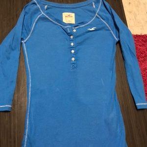 Small Blue Long Sleeve Hollister Shirt